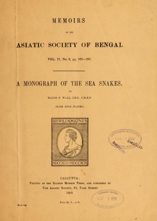 A monograph of the sea snakes (Hydrophiinae)