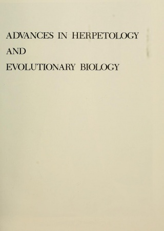Advances in herpetology and evolutionary biology