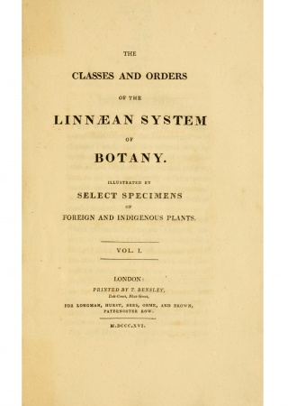 The classes and orders of the Linnaean system of botany