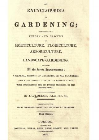 An encyclopaedia of gardening