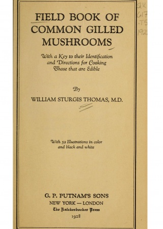 Field book of common gilled mushrooms