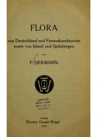 Flora von Deutschland und Fennoskandinavien sowie von Island und Spitzbergen