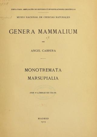 Genera mammalium
