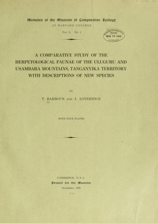 A comparative study of the herpetological faunae