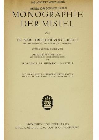 Monographie der Mistel