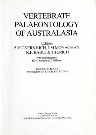 Vertebrate palaeontology of Australasia