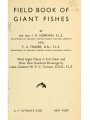 Field book of giant fishes